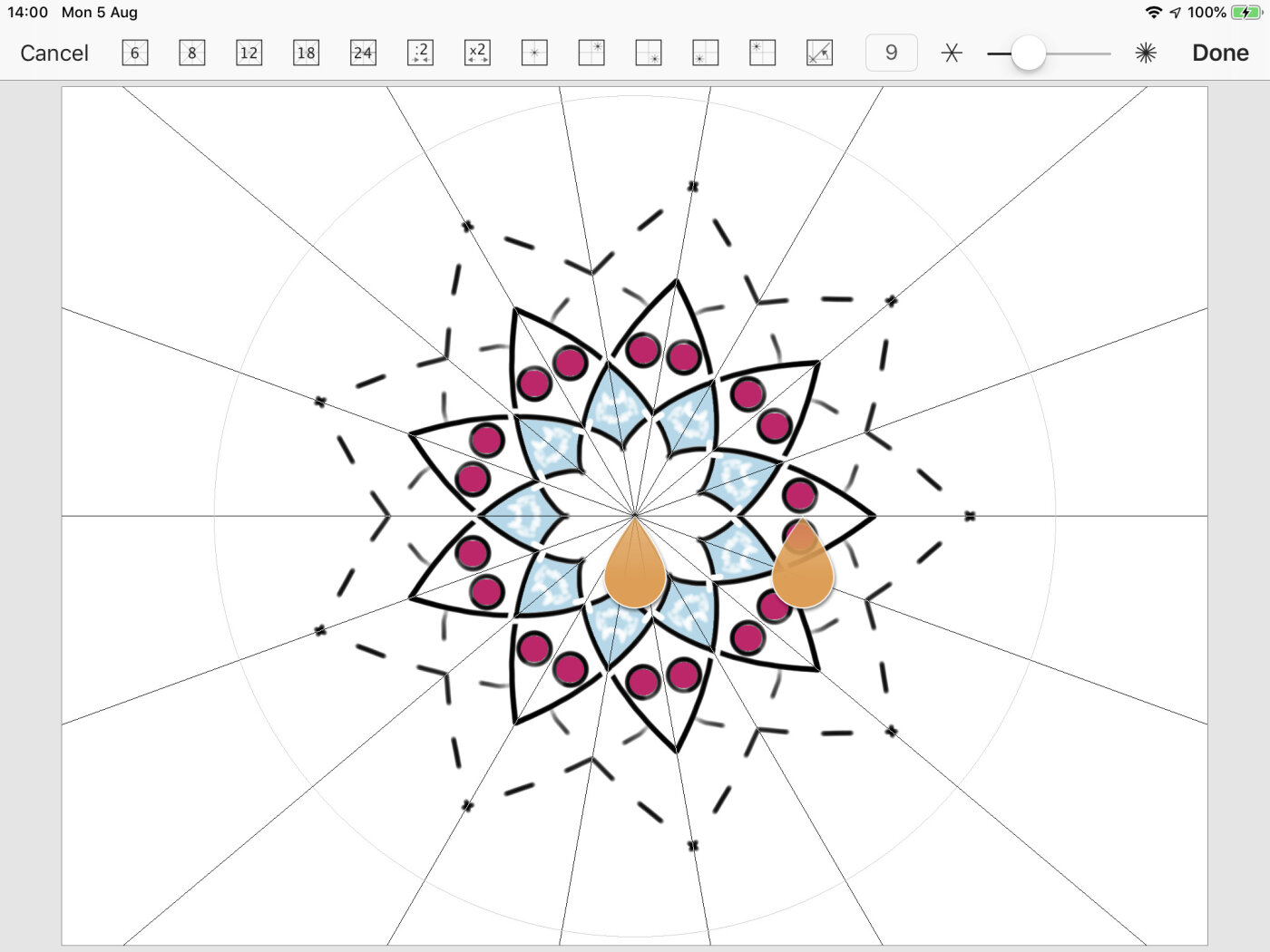 Mandala and Rotation symmetry presets.